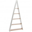 Wooden triangle shelf Lynn , L80cm, B17cm, H168cm,